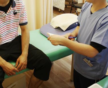 挫傷(肉離れ) 施術の流れ